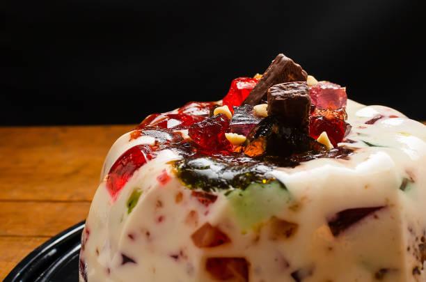 mosaico de gelatina colorida